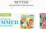 Better Homes & Gardens - Celebrate Summer Sweepstakes