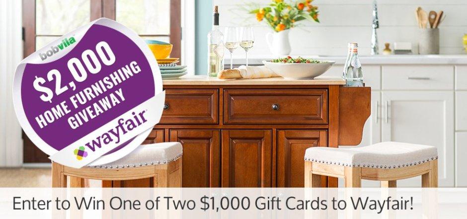 Bob Vila's $2,000 Home Furnishing Giveaway with Wayfair