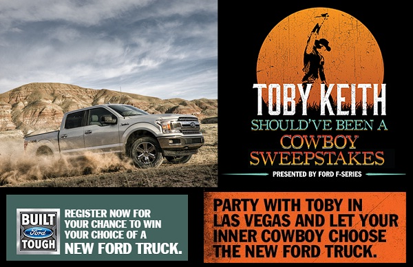 toby keith should've been a cowboy sweepstakes - win a 2019