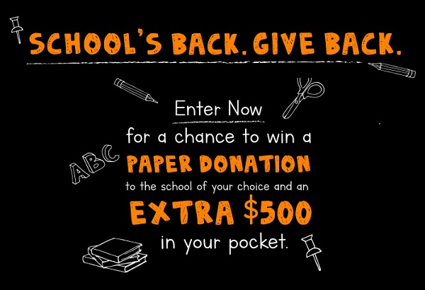 GP BACK TO SCHOOL SWEEPSTAKES - WIN $500 CHECK