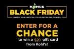 Kohl's Black Friday Sweepstakes