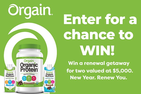 Orgain New Year Renew You Sweepstakes