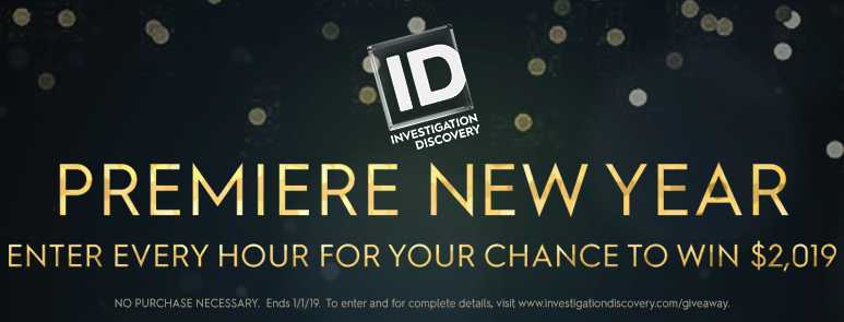 Investigation Discovery Premiere New Year 2019 Sweepstakes