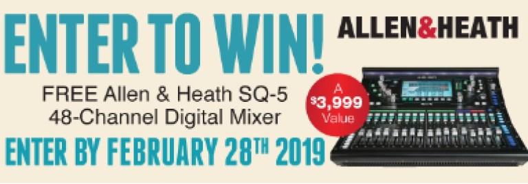 Allen And Heath SQ-5 Digital Mixer Giveaway