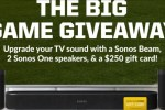 The Big Game Giveaway - Win Wireless Speakers