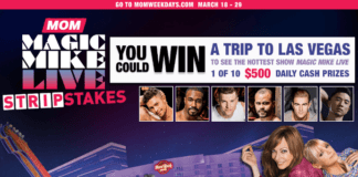 MOM Magic Mike Live StripStakes Sweepstakes