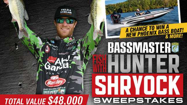 Bassmaster Fish with Hunter Shryock Sweepstakes