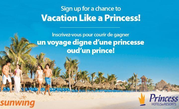 Sunwing Vacation Like A Princess Contest