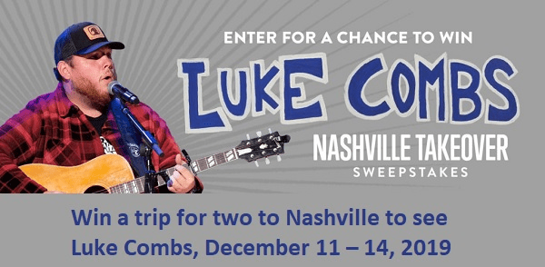 Grand Ole Opry Luke Combs Nashville Sweepstakes