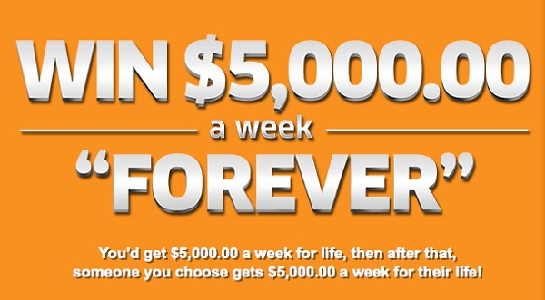 Pch.com Win $5000 A Week Forever Giveaway 2020
