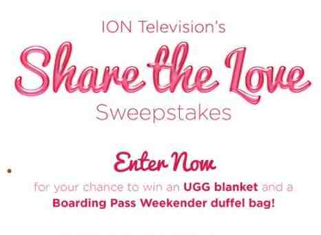 Ion Television Share The Love Sweepstakes