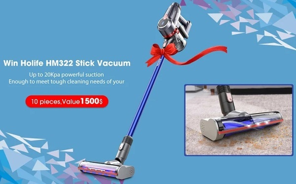 Holife HM322A Cordless Stick Vacuum Giveaway