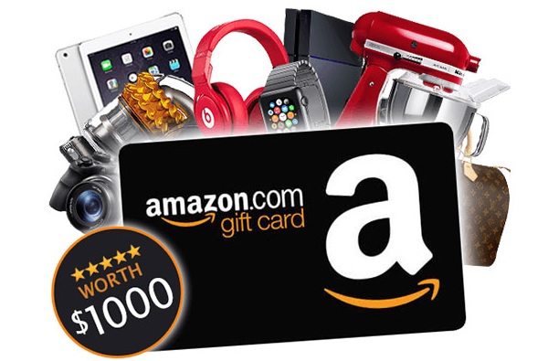 $1,000 Amazon Gift Card Giveaway