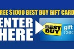 $1,000 Best Buy Gift Card Giveaway