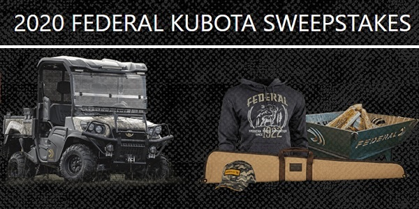 Federal Kubota UTV Sweepstakes 2020