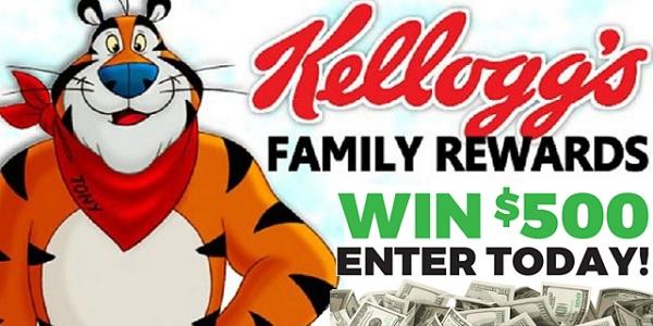 Kellogg's Family Rewards $500 Giveaway