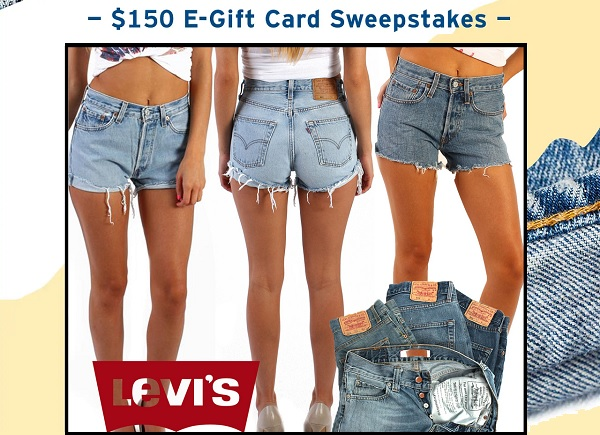 Levi's Shorts Review Sweepstakes