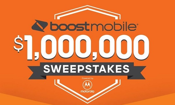 Boost Mobile Million Dollar Sweepstakes 2020