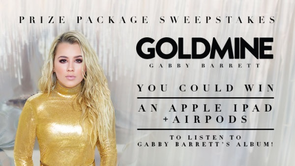 Gabby Barrett Goldmine Sweepstakes