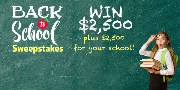 FamilyTalkToday Back To School Cash Sweepstakes 2020