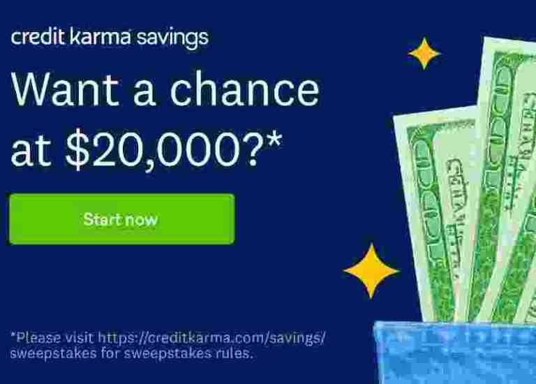Credit Karma Savings November $20k Sweepstakes 2020