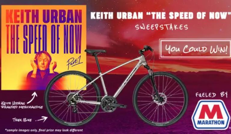 Bobby Bones Keith Urban The Speed of Now Sweepstakes 2020