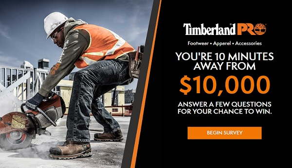 Timberland $10000 Cash Giveaway 2020