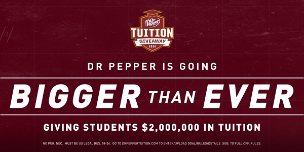 Dr Pepper Tuition Giveaway and Instant Win Game