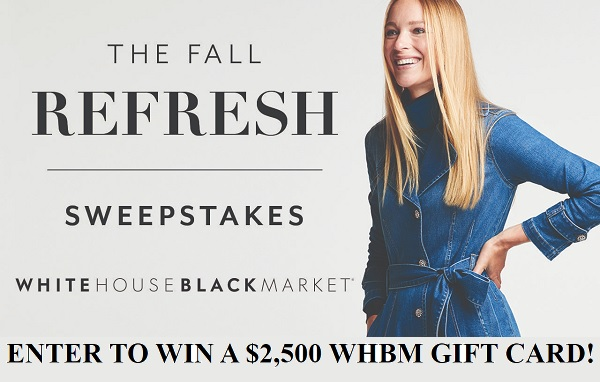 White House Black Market's Fall Fashion Sweepstakes 2020