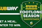 Subway Sweepstakes on FootlongSeasonSweeps.com