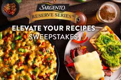 Sargento Elevate your Recipes Sweepstakes