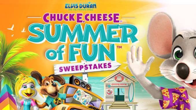 Elvisduran.com Contest 2021 – Elvis Duran & the Morning Show's Chuck E. Cheese Summer of Fun Sweepstakes