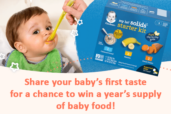 The Gerber Love at First Taste Giveaway