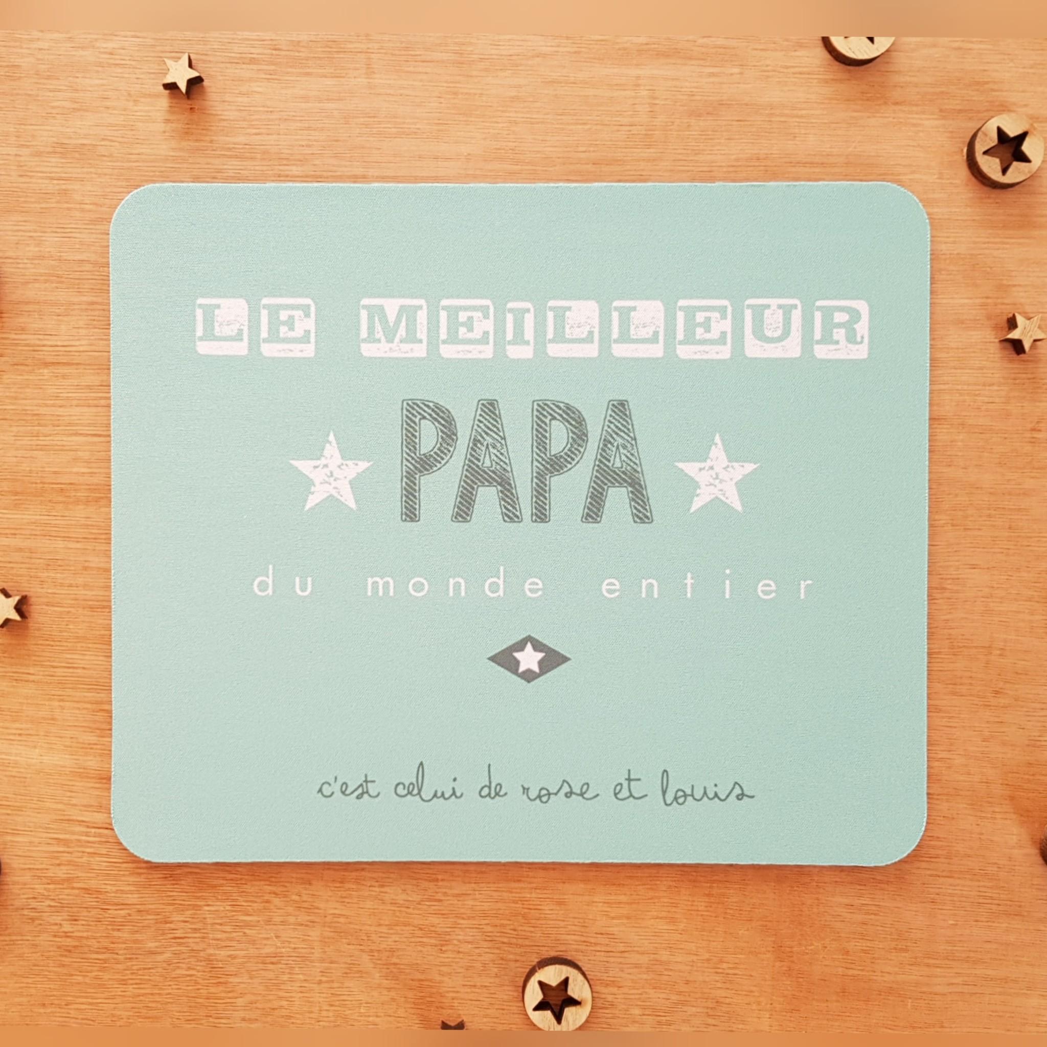 tapis souris papa personnalisable le meilleur papa du monde entier