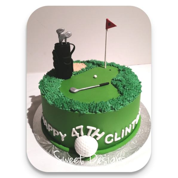 Golf Theme Birthday Cake