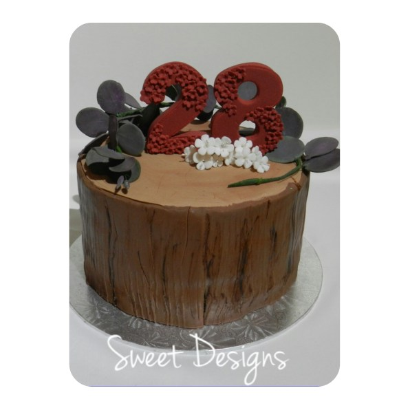 Tree Trunk Birthday Cake