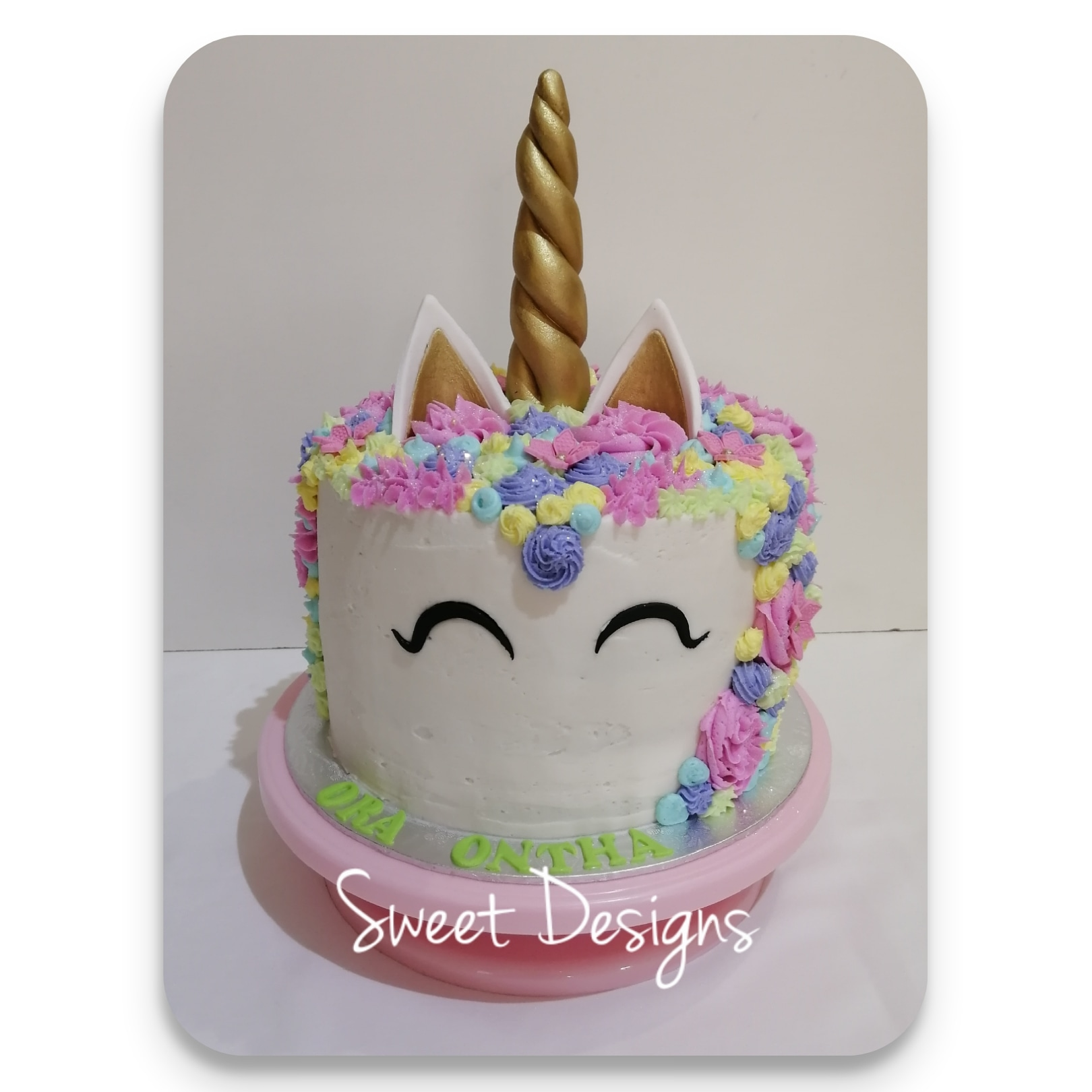 Unicorn Butterceam Cake