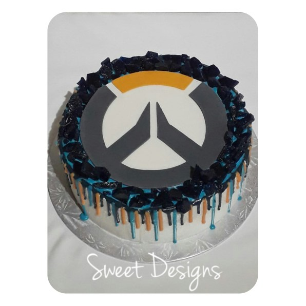 Overwatch Birthday Cake