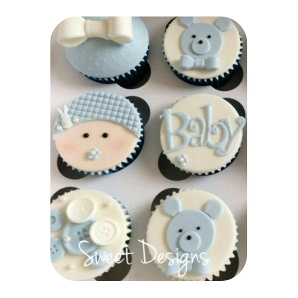 Fondant Cupcakes for a little boy