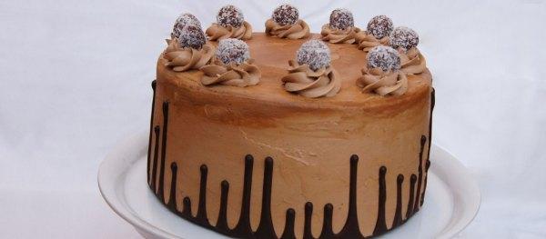 Upside Down Drip Cake mit italienischer Schokobuttercreme