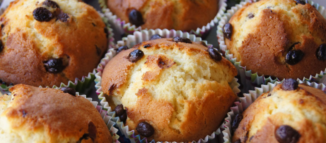 Muffins mit Schokotropfen