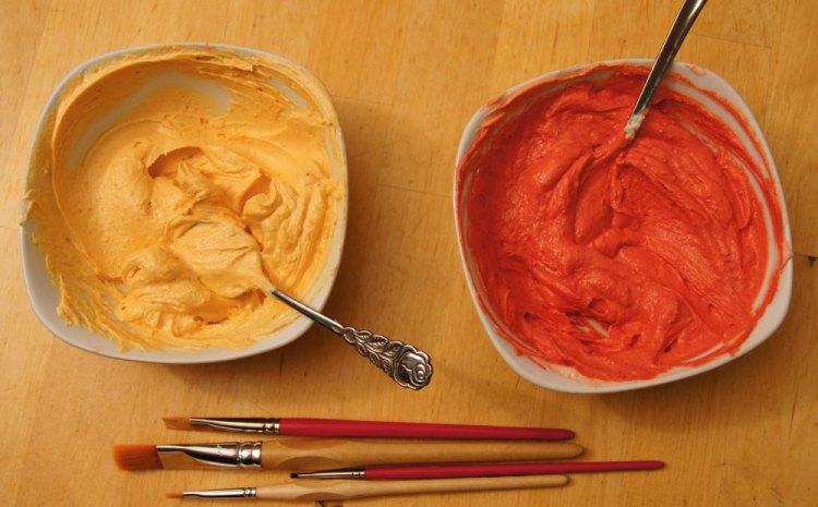 Buttercreme einfärben