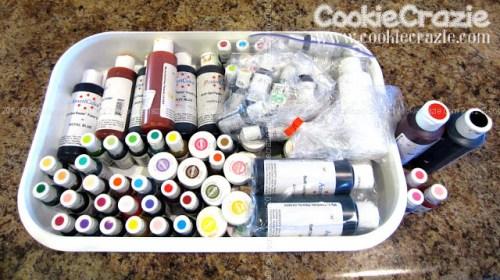 Cookie Crazie's vast colour range