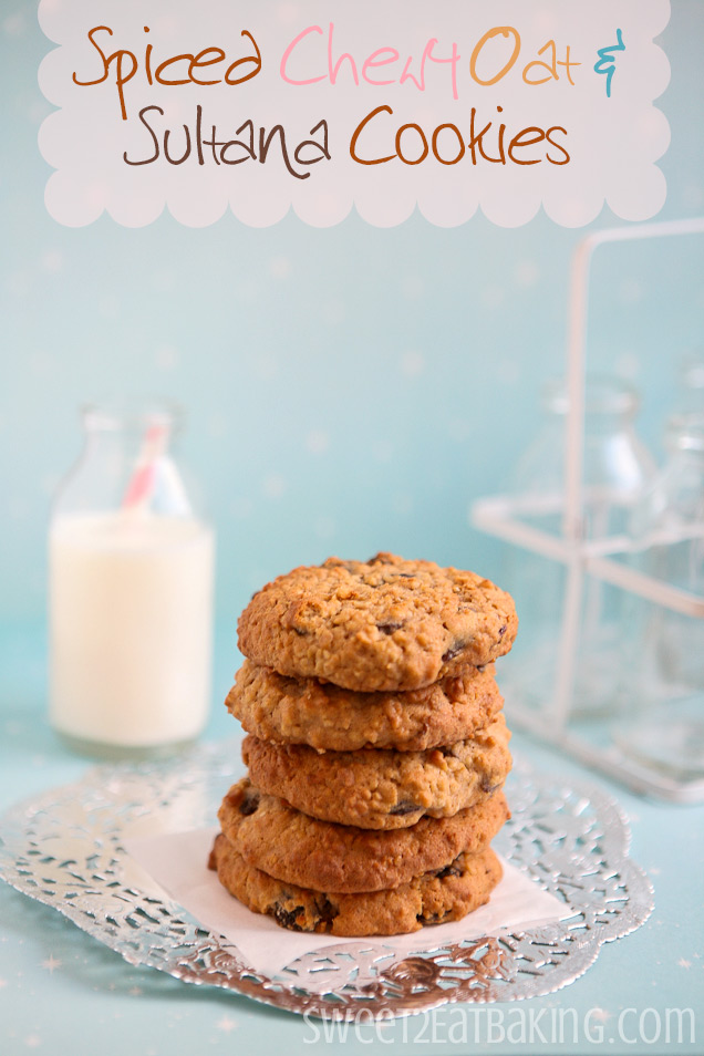 Spiced Chewy Oat and Sultana Cookies