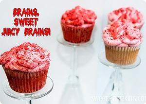 Bloody Brains Cupcakes