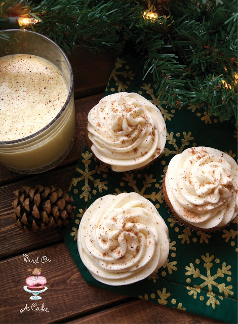 Eggnog Cupcakes with Nutmeg Frosting by Bird on a Cake