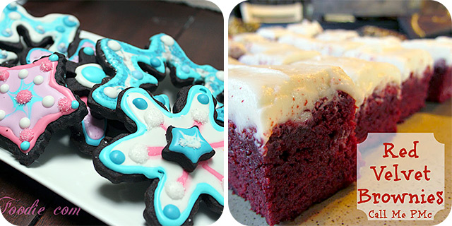 Chocolate Shortbread Cookies & Red Velvet Brownies