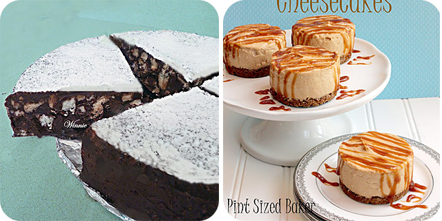 No Bake Chocolate Biscuit Cake & Gingerbread Pudding Cheesecakes