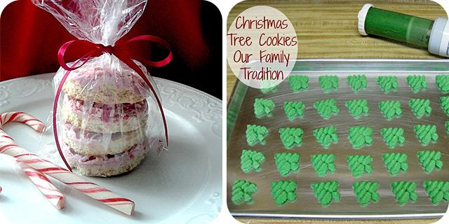 Peppermint Shortbread Cookies & Christmas Tree Cookies