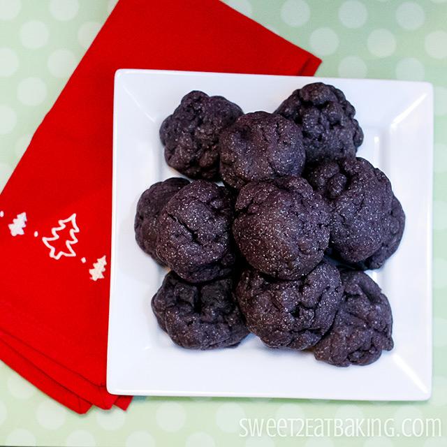 Lump of Coal Christmas Cookies by Sweet2EatBaking.com